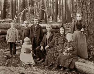 Left to right: August, Jon, Tony, Josef, Anna, Agnus (standing), Front: Annie and Louise