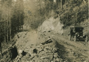 Car on the early Canyon Rd. (ca. 1920)