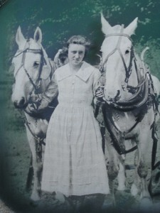 Olga Olden with the horses