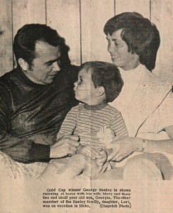 George Henley with wife Mary and son Georgie