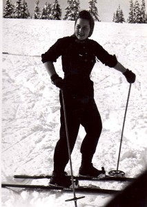 Madora on the Slopes at Paradise 1940s