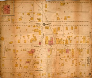 1914 Map of Eatonville - Downtown