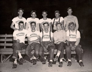 National Loggers Baseball Team from the 50'