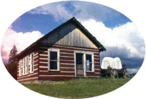 Another look at the Van Eaton cabin when it was paint with Mashell Red