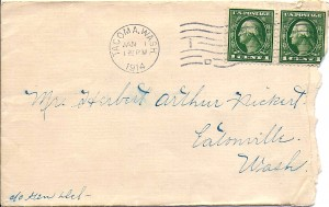 Jan. 1, 1914 letter to Herbert Arthur Pickert