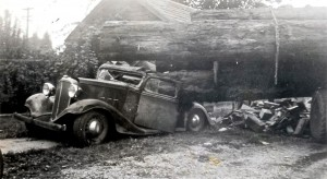 Logging truck accident - 1940s