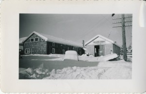 Eatonville Welding works in a snow storm
