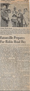 Eatonville Prepares for Robin Hood Day (page 1)