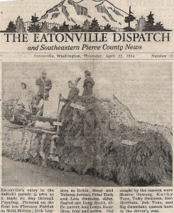 1954 Eatonville float in Daffodil Parade