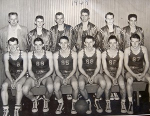 Coach Cope and 1949 EHS Basketball team