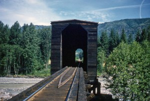 Covered Bridge over Nisqually River at Elbe