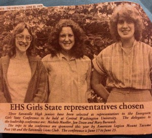 EHS Girls State Reps 1979