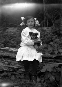 Nettie Conrad and Pup