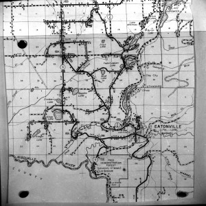 Rural Map of the Eatonville area 1963