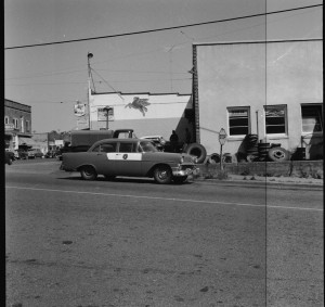 State Patrol on Center Street, 1958 and Mobile Station