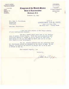 Coffee Letter to Christensen, 1940
