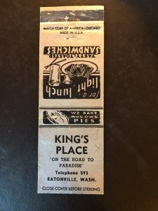 King's Place Matchbook 2