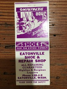 Eatonville shoe repair matchbook