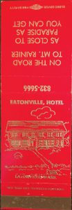 Eatonville Hotel Matchbook cover